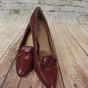 Franco Sarto Burgundy Heels With Pointed Toe Sz10